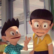 Doraemon: Nobita e Suneo in una scena del film d'animazione
