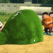 Doraemon: Doraemon, Nobita, Shizuka, Suneo e Gian in una scena del film