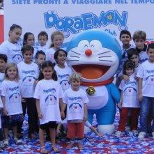 Doraemon: Giorgio Pasotti sul red carpet con la star del film ed il pubblico di bambini