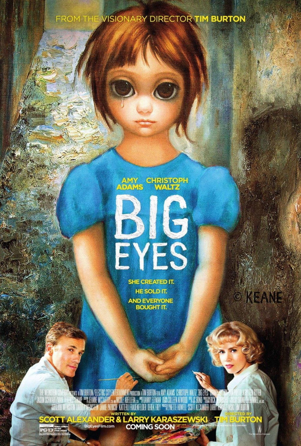 Big Eyes: la locandina del film