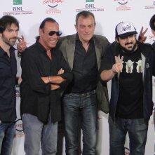 Roma 2014: Antonello Venditti col cast al photocall di Giulio Cesare. Compagni di scuola