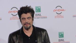 Roma 2014: l'attore Benicio Del Toro al photocall di Escobar: Paradise Lost