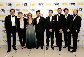 Fury: il cast del film alla première londinese