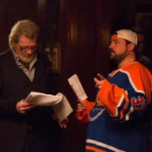 Tusk: il regista Kevin Smith insieme a Michael Parks sul set