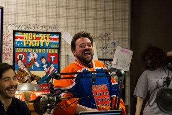 Tusk: Justin Long con Kevin Smith sul set