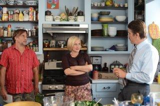 Boyhood: Patricia Arquette insieme a Ethan Hawke e Richard Linklater sul set