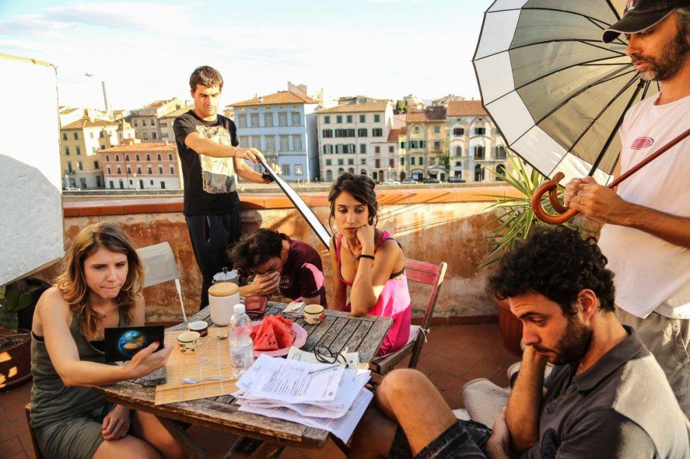 Fino a qui tutto bene: Silvia D'Amico con Melissa Anna Bartolini sul set del film