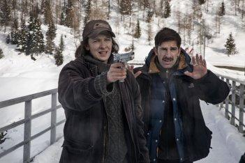 La foresta di ghiaccio: Ksenia Rappoport con il regista Claudio Noce sul set
