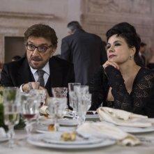 Una pallottola nel cuore: Gigi Proietti e Licia Maglietta in una scena della fiction