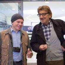Una pallottola nel cuore: Gigi Proietti con Marco Marzocca in un'immagine della fiction