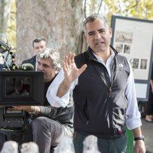 Una pallottola nel cuore: il regista della fiction Luca Manfredi in una foto dal set