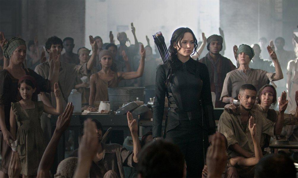 Hunger Games: Il canto della rivolta - Parte I, Jennifer Lawrence in una scena del film