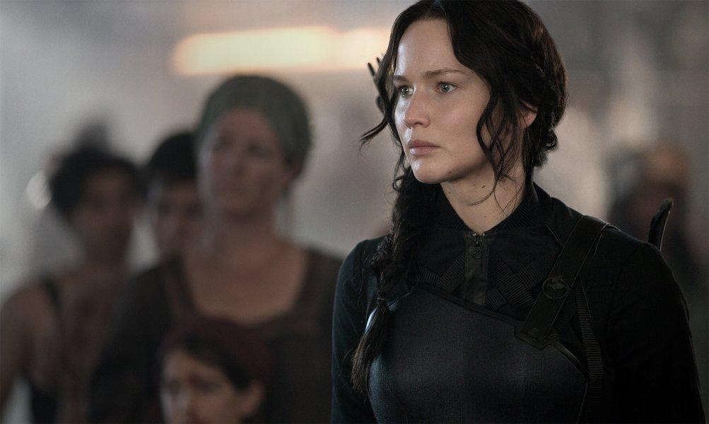 Hunger Games: Il Canto della Rivolta - Parte 1: Jennifer Lawrence è Katniss Everdeen in una scena del film