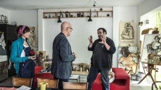 Confusi e felici: Claudio Bisio con Massimiliano Bruno e Anna Foglietta sul set