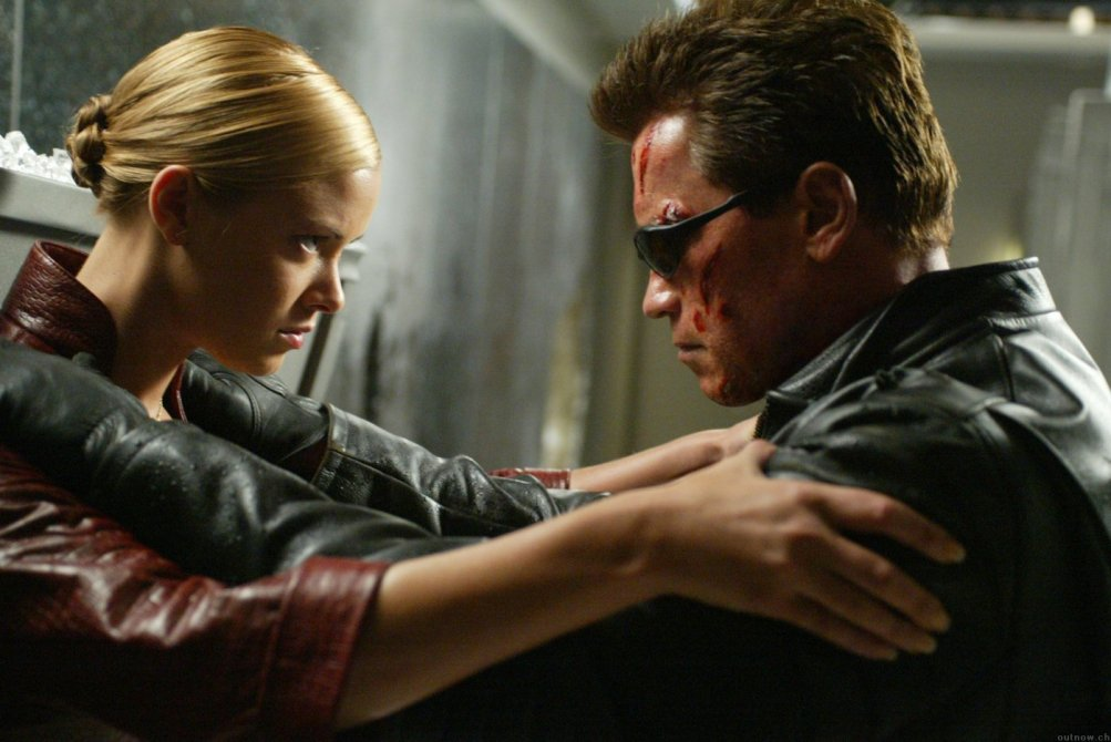 Terminator 3 - Le macchine ribelli: Arnold Schwarzenegger e Kristanna Loken