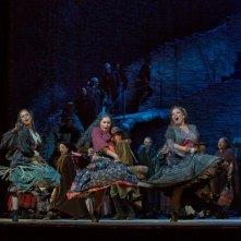 Carmen: Anita Rachvelishvili durante una coreografia dello spettacolo