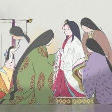 La Storia della Principessa Splendente: una colorata scena del film animato giapponese