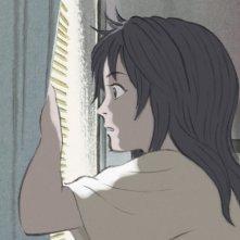 Una scena tratta dal film animato La Storia della Principessa Splendente