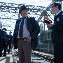 Gotham: gli attori Donal Logue e Cory Michael Smith in Spirit Of The Goat