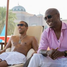 Fast & Furious 7: Tyrese Gibson con Ludacris in una scena