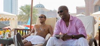 Fast & Furious 7: Tyrese Gibson con Ludacris in una scena