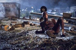 The Flash: Grant Gustin in una scena di Going Rogue