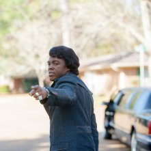Chadwick Boseman nei panni di James Brown in 'Get on Up'