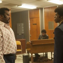 Get on Up: Chadwick Boseman in un'immagine del film con Craig Robinson