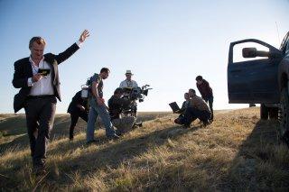 Interstellar: Christopher Nolan sul set del film con Matthew McConaughey e Mackenzie Foy
