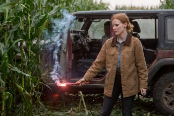 Interstellar: Jessica Chastain in una scena