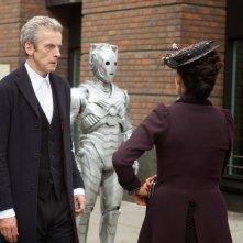 Doctor Who: Peter Capaldi e Michelle Gomez in una scena dell'episodio intitolato Dark Water