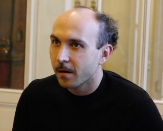 Italiano medio: Maccio Capatonda con una nuova pettinatura a lucca Comics & Games 2014