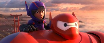 Hiro e Baymax in una scena tratta dal film Disney-Pixar 'Big Hero 6'
