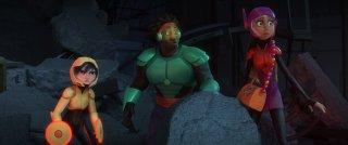 'Big Hero 6: Wasabi con GoGo Tomago e Honey Lemon in una scena del film animato