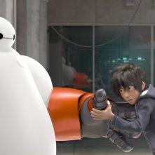 Un'immagine del film animato 'Big Hero 6'