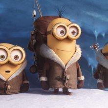 Minions: Kevin, Stuart e Bob in una delle prime immagini del film animato