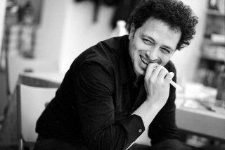 La palestra: Francesco Calandra in una foto dal set del suo film