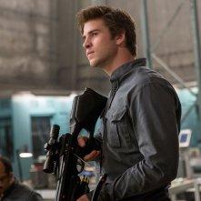 Hunger Games: Il Canto della Rivolta - Parte 1: Liam Hemsworth in una scena del film d'avventura