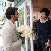 Words and Pictures: Juliette Binoche in un romantico momento del film con Clive Owen