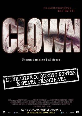 Clown - la versione censurata del poster del film