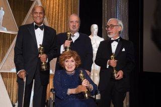 Oscar 2015: i premi alla carriera consegnati a Hayao Miyazaki, Harry Belafonte, Maureen O'Hara e Jean-Claude Carrière