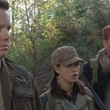 The Walking Dead: Josh McDermitt, Christian Serratos e Michael Cudlitz nell'episodio Sabotaggio