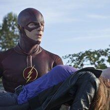 The Flash: Grant Gustin e Kelly Frye in Plastique