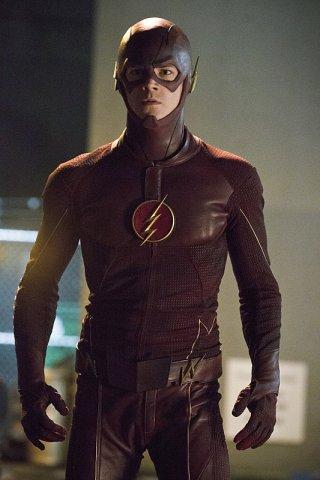 The Flash: Grant Gustin in una scena della puntata intitolata Plastique