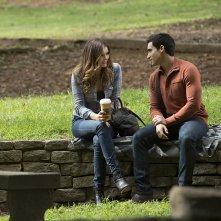 The Vampire Diaries: Nina Dobrev e Marco James in una scena dell'episodio intitolato Do You Remember the First Time?