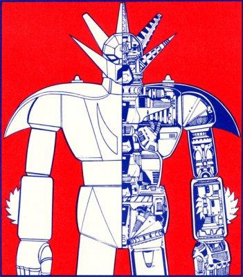 Getter Robot G: lo schema di un robot