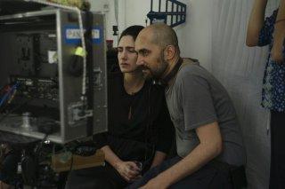Viviane: Shlomi Elkabetz e Ronit Elkabetz, co-registi del film, sul set