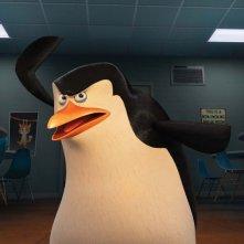 I pinguini di Madagascar: Skipper in una scena del film animato della DreamWorks