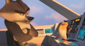 I pinguini di Madagascar: Segreto e Skipper in una scena del film animato della DreamWorks
