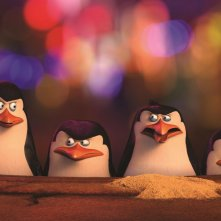 I pinguini di Madagascar: Skipper, Kowalski, Rico e Soldato in una scena del film animato